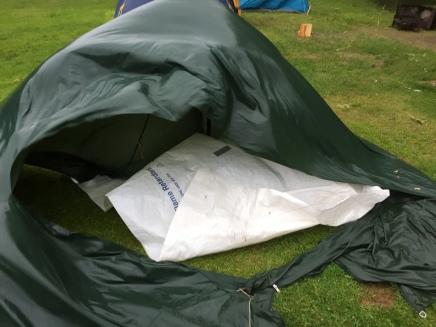 Bye bye 1978 scout tent
